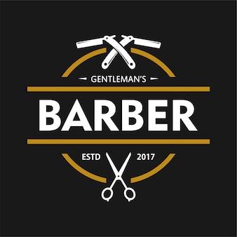 Modelo de design do logotipo do barbershop