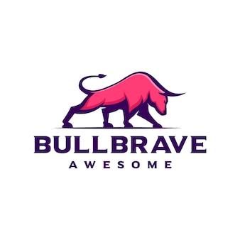 Modelo de design do logotipo do bull taurus bison buffalo.