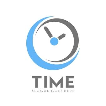 Modelo de design do logotipo do relógio de tempo