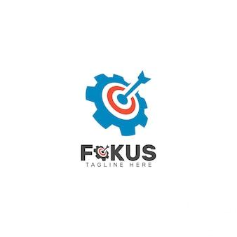 Modelo de design do logotipo fokus