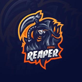 Modelo de design do reaper esport orange loo