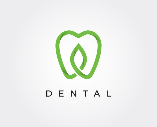 Modelo de design do sumário do dente do logotipo da clínica odontológica estilo linear. médico de estomatologia dentista ícone de conceito do logotipo.