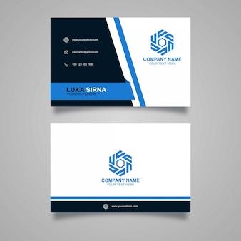 Modelo de design elegante cartão de visita