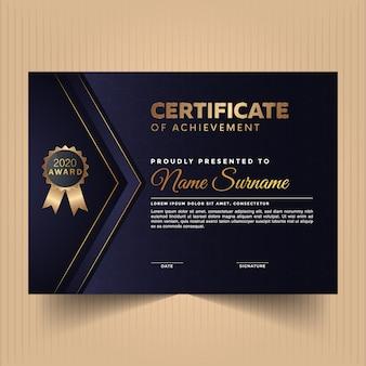 Modelo de design elegante certificado diploma diploma