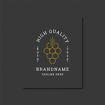 Modelo de design elegante logotipo vinho vintage