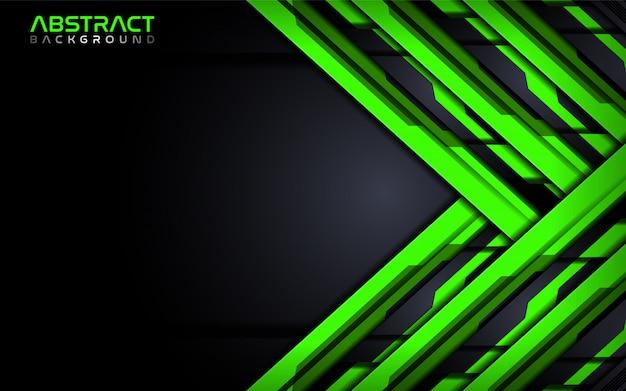 Modelo de design futurista de fundo abstrato verde tecnologia moderna.