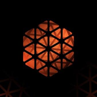 Modelo de design geométrico moderno abstrato de forma poligonal de vetor abstrato