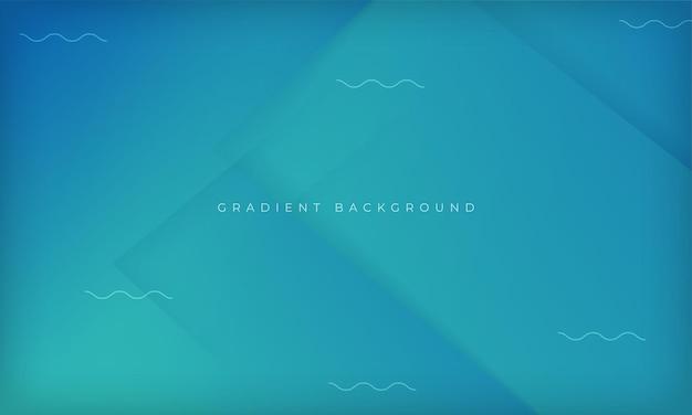 Modelo de design geométrico moderno de fundo dinâmico gradiente azul