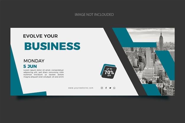 Modelo de design gradiente de novos banners de negócios