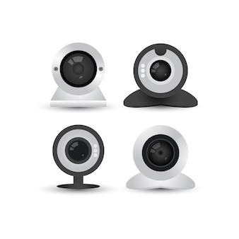 Modelo de design gráfico de webcam