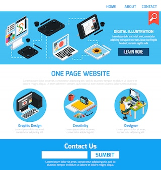Modelo de design gráfico para site