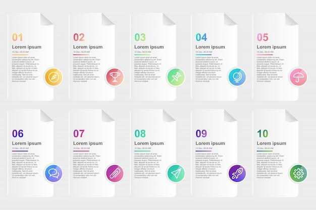 Modelo de design infográfico para negócios 10 passo