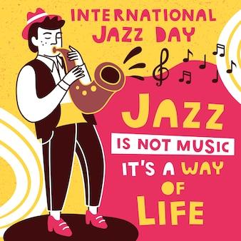 Modelo de design internacional dia do jazz.