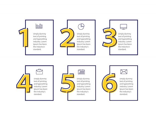 Modelo de design limpo para banners numerados