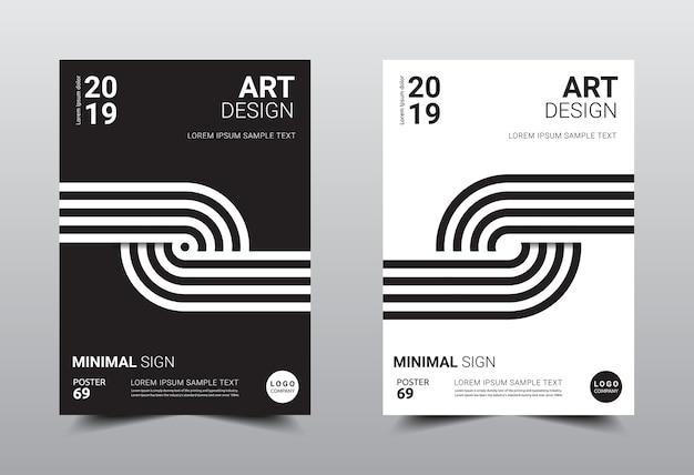 Modelo de design minimalista criativo tamanho a4.