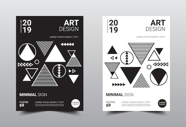 Modelo de design minimalista criativo.