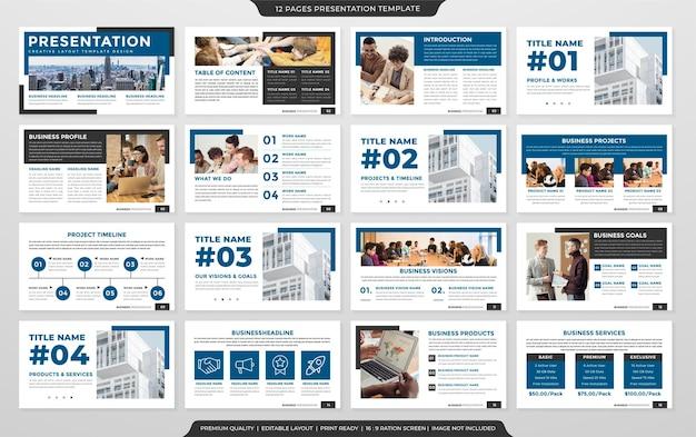 Modelo de design minimalista de apresentação de negócios