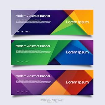 Modelo de design moderno abstrato colorido banner