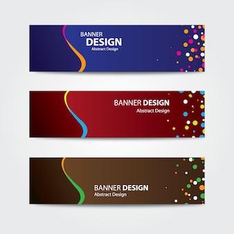 Modelo de design moderno banner abstrato