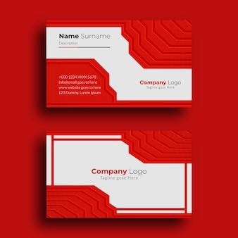 Modelo de design moderno cartão de visita criativo