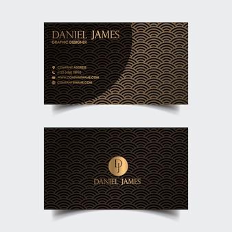 Modelo de design moderno cartão de visita de luxo.