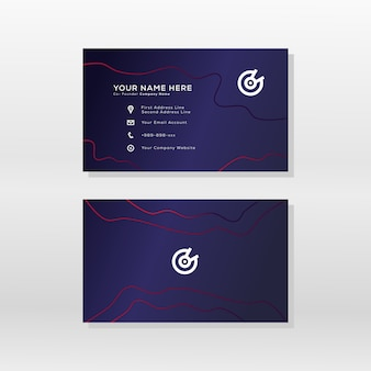 Modelo de design moderno cartão de visita gradiente