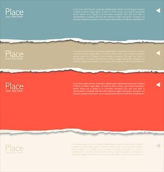 Modelo de design moderno com papel rasgado