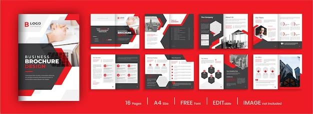 Modelo de design moderno de brochura comercial