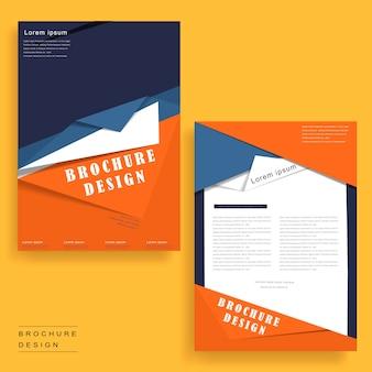 Modelo de design moderno de brochura em estilo origami