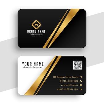 Modelo de design moderno de cartão de visita dourado