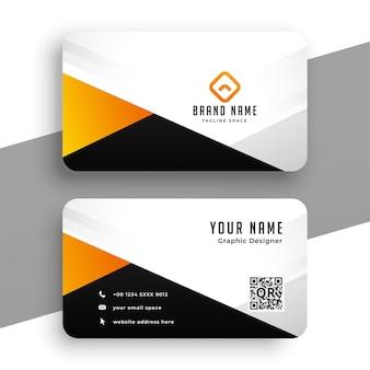 Modelo de design moderno de cartão de visita laranja