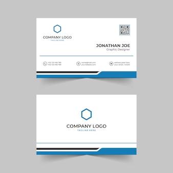 Modelo de design moderno de cartão de visita minimalista vetor premium