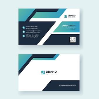 Modelo de design moderno de cartão de visita vetor premium