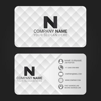 Modelo de design moderno de cartão de visita