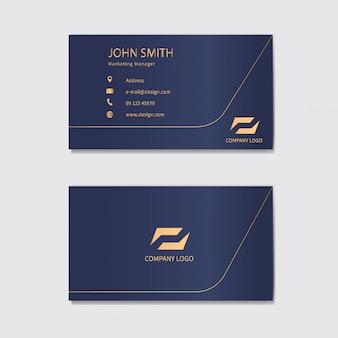 Modelo de design moderno de cartão de visita.