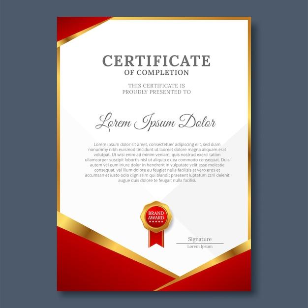 Modelo de design moderno de certificado ou diploma