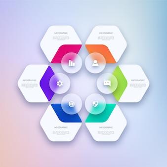 Modelo de design moderno de infográfico