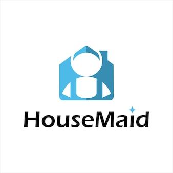 Modelo de design moderno de logotipo de limpeza de casa