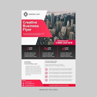 Modelo de design moderno de panfleto de negócios