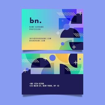 Modelo de design moderno gradiente de cartão de visita