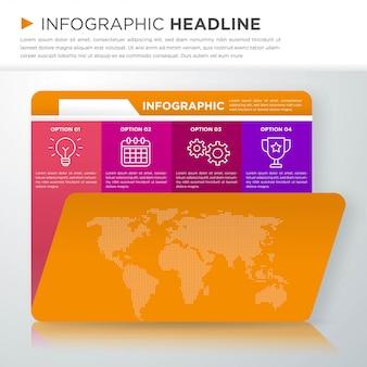 Modelo de design moderno infográfico