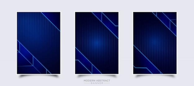Modelo de design moderno vetor banner abstrato