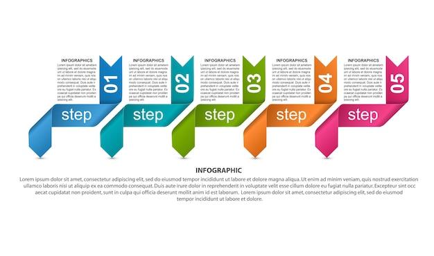 Modelo de design para apresentações de negócios ou banner de informações