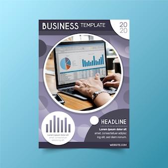 Modelo de design para negócios com foto