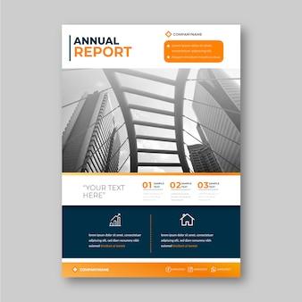 Modelo de design para o relatório anual