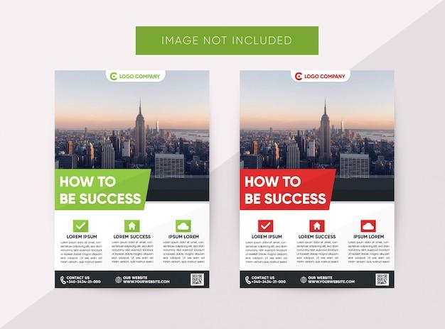 Modelo de design plano de panfleto de negócios