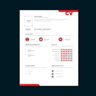 Modelo de design profissional cv