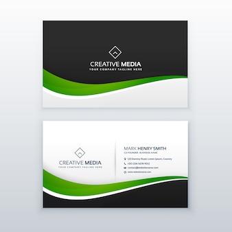 Modelo de design profissional de cartão de visita verde
