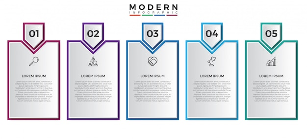 Modelo de design simples infográfico