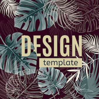 Modelo de design tropical.